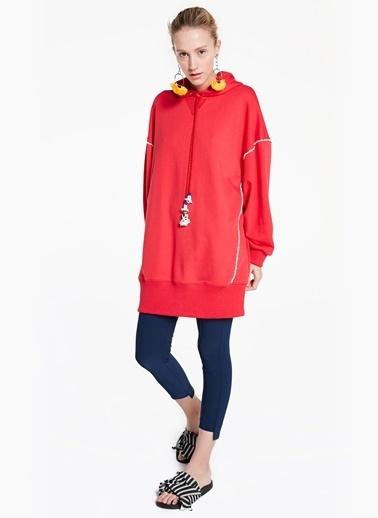 Dikişleri Boncuk Şeritli Sweat Elbise-Twist